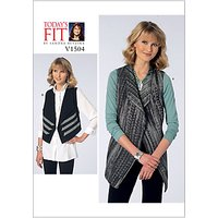 Vogue Womens Vest Sewing Pattern, 1504
