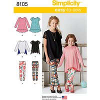 Simplicity Childs Top and Leggings Sewing Pattern, 8105