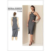 Vogue Misses Womens Criss Cross Strap Dress Sewing Pattern, 1498