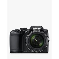 Nikon COOLPIX B500 Digital Camera, 16MP, HD 1080p, 40x Optical Zoom, Wi-Fi, Bluetooth, 3 LCD Screen, Black