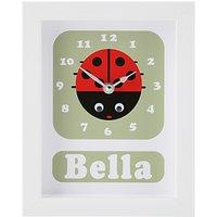 Stripey Cats Personalised Lisbeth Lady Bird Framed Clock, 23 x 18cm