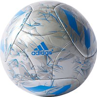 Adidas Messi Mini Football, Size 1, Silver/Blue