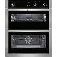 Neff U17S32N5GB Double Built-Under Electric Oven, Stainless Steel