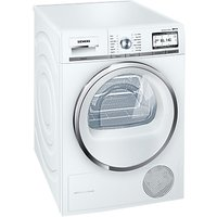 Siemens WT4HY790GB Freestanding Heat Pump Condenser Tumble Dryer with Home Connect, 9kg Load, A++ Energy Rating, White