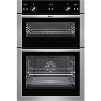 Neff U15E52N5GB Double Built-In Electric Oven, Stainless Steel