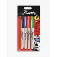 Sharpie Fine Markers, Pack of 4