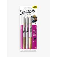 Sharpie Fine Metallic Markers, Pack of 3