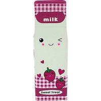 Blueprint Strawberry Milk Pencil Case, Pink