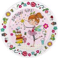 Rachel Ellen Fairy Birthday Girl Paper Plates, Pack of 8