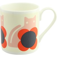 Orla Kiely Cat Mug, Red