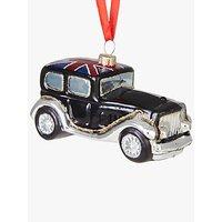John Lewis Tourism Union Jack Classic Car Bauble