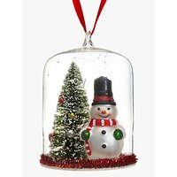 John Lewis Snowman And Tree Dome Bauble