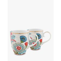 PiP Studio Spring to Life Large Mug, Set of 2, Cream