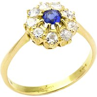 shop for Turner & Leveridge 1910s Edwardian 14ct Gold Sapphire and Diamond Engagement Ring, Blue/Gold at Shopo
