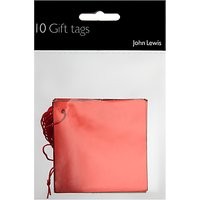 John Lewis & Partners Red Foil Gift Tags, Pack of 10