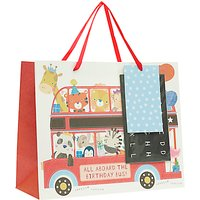 John Lewis Animal Bus Gift Bag, Medium