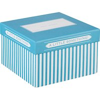John Lewis Candy Stripe Gift Box, Small, Turquoise