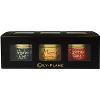 Lily-Flame Festive Scented Candle Tin Trio