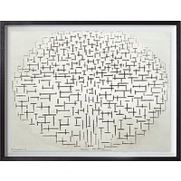 Piet Mondrian - Composition No.10 Pier & Ocean Framed Print, 65 x 80cm