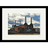 Cath Harries - Limited Edition Battersea Power Station Framed Print, 44 x 58cm