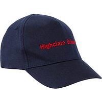 Highclare School Junior J3 - J6 Unisex Baseball Cap, Navy
