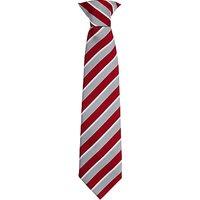 Highclare School Junior Boys Clip-on Tie, Red/Grey, 16