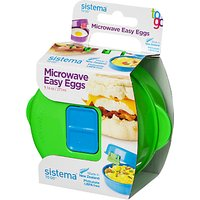 Sistema Easy Eggs To Go Microwave Container, Assorted Colours