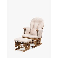 Kub Haywood Reclining Glider Nursing Chair and Footstool, Beige