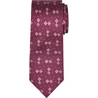 JOHN LEWIS & Co. Grid Print Silk Tie