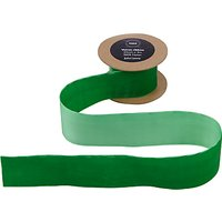 John Lewis Velvet Ribbon, 3m, Green