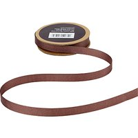 John Lewis Grosgrain Ribbon, 5m, Cocoa Brown