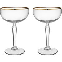Social by Jason Atherton Coupe Glasses With Gold Band, Set of 2