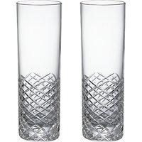 Social by Jason Atherton Hand Cut Crystal Glass Highball Glasses, Set of 2