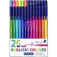 Staedtler Triplus Colour Fibre Tip Pens, Pack of 26