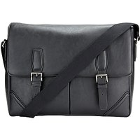 John Lewis Barbican Messenger Bag, Black