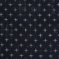 John Lewis Cross Print Fabric, Blue