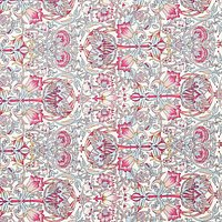 John Lewis Art Deco Print Fabric, Pink