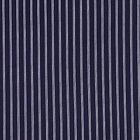 Breton Stripe Jersey Fabric, Navy
