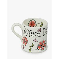 Gallery Thea Personalised Heart and Pansy Mug, Large