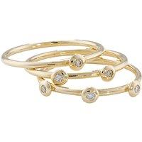 shop for London Road 9ct Gold Portobello Raindrop Stack Ring, Yellow Gold at Shopo