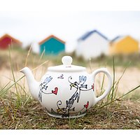 Gallery Thea Seagull and Hearts 2 Cup Teapot