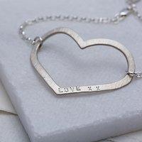 Chambers & Beau Personalised Mega Heart Bracelet