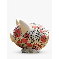 Gallery Thea Coral Pansy Piggy Bank