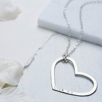 Chambers & Beau Personalised Mega Heart Necklace
