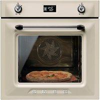 Smeg SFP6925PPZE1 Built-In Single Electric Oven, Cream