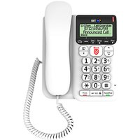BT Dcor 2600 Corded Telephone with Answering Machine & Nuisance Call Blocker, White