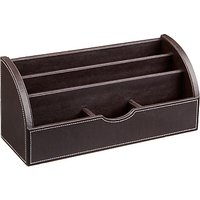 John Lewis Desk Organiser, Brown