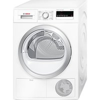 Bosch WTH85200GB Heat Pump Condenser Tumble Dryer, 8kg Load, A++ Energy Rating, White