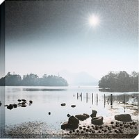 Mike Shepherd - Derwent Sunburst Embellished Canvas Print, 80 x 80cm