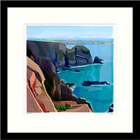 Jill Ray - From The Cliff Framed Print, 54 x 54cm